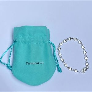 Auth Tiffany & Co Retired chain of hearts bracelet
